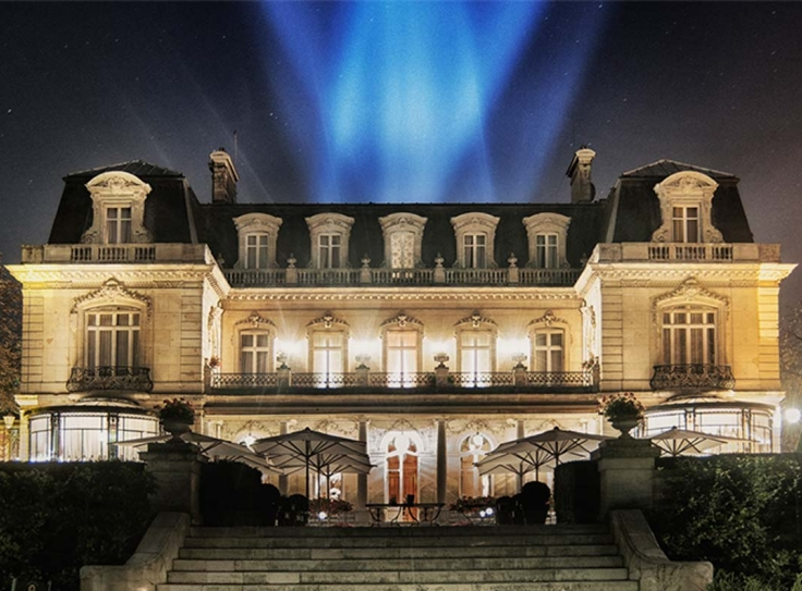 Hotel chateau Crayeres in Reims