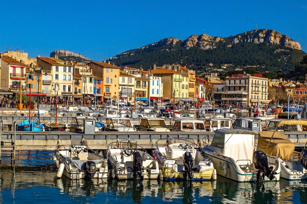 A picturesque port in the south of France