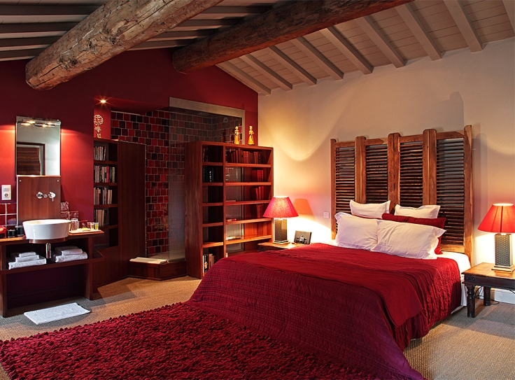 A room in a boutique hotel in Provence