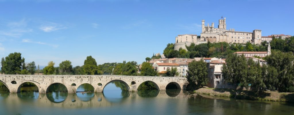 Avignon and bridge in historic France