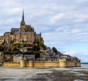 Mont Saint Michel on in Normandy