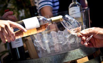 Pouring bandol wine