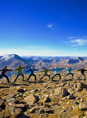Yoga wellbeing break in the mountains