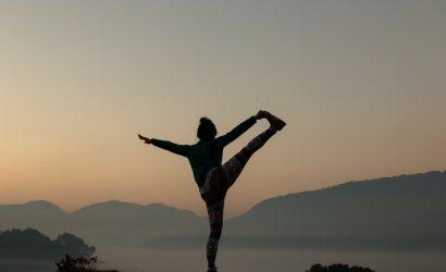 Yoga outside in the fresh air